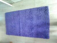 Purple shaggy Rug