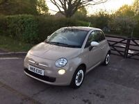 2015 FIAT 500 COLOUR THERAPY BEIGE STOP/START ​18,000 MILES IMMACULATE CONDITION