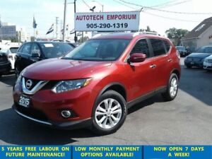 2015 Nissan Rogue SV Pano Sunroof/Camera/HtdSts &GPS*