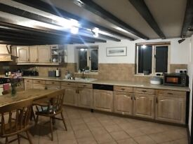 Kitchen for sale includes all units around walls inc cooker fridge and dishwasher