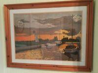 Hand Woven framed Tapestry
