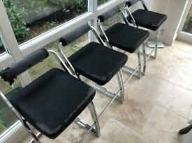 4 high quality barstools - frames in great condition but require new covers