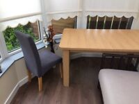 Dining table and chairs (extending) ex Argos