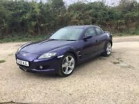 2005 MAZDA RX8 ONLY 32000 MILES FROM NEW 5 MAZDA SERVICE HISTORY STAMPS 1 yrs mot FULLY LOADED CAR