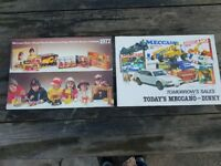 2 VINTAGE 1977&79 COLLECTABLE OFFICIAL TRADE SHOP DINKY MECCANO GLOSSY NEW STOCK BROCHURES VGC