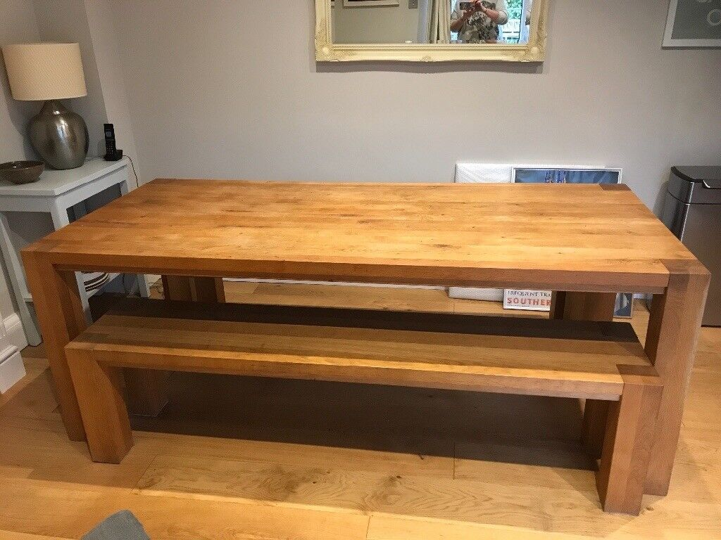 factory price 61abc c0426 Heals oak dining table and benches | in Farnham, Surrey | Gumtree