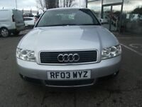 2003 03 AUDI A4 2.0 SE 4D 129 BHP **** GUARANTEED FINANCE **** PART EX WELCOME