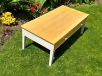 Ercol John Lewis Coffee Table in Oak and Grey, useful drawers - Local delivery possible