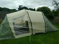 4 berth tent with two bedrooms