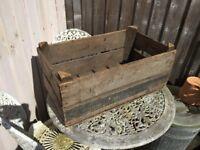 Vintage Wooden Vegetable Boxes
