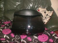 Motorcycle top box unused with backrest