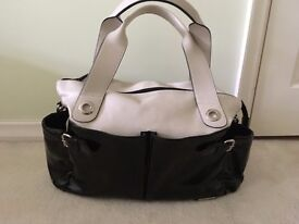 Changing Bag - Storksak Kate (Black & Cream)