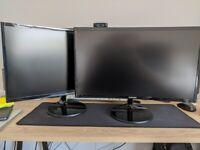 2 x Samsung C24F390 24-Inch Curved LED FullHD 1080p Monitor - 1920x108