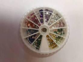 New Wheel Nail Art Colorful Diamond Bottom
