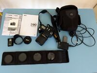 Nikon D90 but no flash BN2 extra battery and lens filters