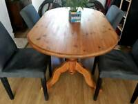 Large dining room table (4 chairs for free)