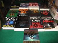 Stephen king hardcovers/ oversized softcovers $5 each
