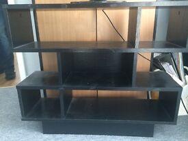 Black shelving unit