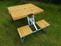 A children's camping dining picnic table