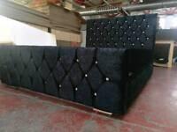 Brand new crushed velvet bed