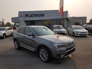 17 BMW X3, Leather, media system, power liftgate,back up camera
