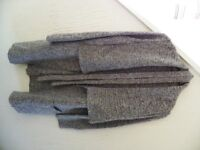 Long Grey White Fleck Coat Cardigan Size 16 - VGC