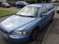 Volvo V70 D5 Diesel Estate 2005 Blue Full Cream leather with tow bar & Hands Free Kit