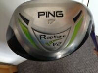 golf clubs for sale, Ping Rapture V2 hybrid,17degree
