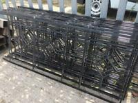 Metal railings