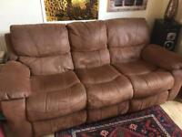 DFS 3 seater recliner sofa
