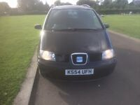 2004 (54) SEAT ALHAMBRA STYLANCE 1.9 TDi, 130BHP, (BLACK), FSH, CAMBELT CHANGED, NEW CLUTCH+FLYWHEEL