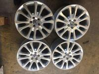 "18"" GENUINE VOLVO XC ALLOY WHEELS MINT CONDITION NO TYRES"