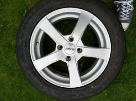 Dezent Alloy wheel and tyre