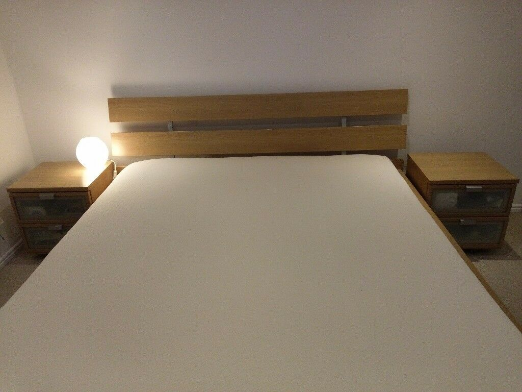 King Size IKEA Bed Frame With Bedside Drawers Great Condition!