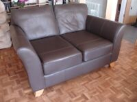 M&S leather Sofa