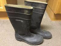 Dunlop Steel Toe Cap Workmen Wellingtons Size 10