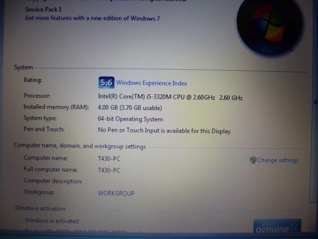 Lenovo ThinkPad T430 Laptop  Core i5 Processor | in Oldham, Manchester |  Gumtree