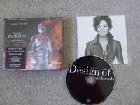 MICHAEL&JANET JACKSON CDS>HISTORY BOOK 1 & DESIGN OF A DECADE + MILLENNIUM 2000