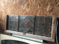 True Victorian Stained Glass Leaded Window call me