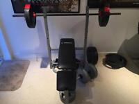 Weights bench with 60kg
