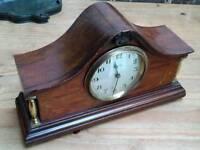 Antique vintage Edwardian inlaid mahogany clock perfect working order