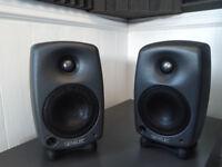 Genelec 8020c Bi-Amplified Studio Monitors Speakers Dark Grey (Pair) with original boxes