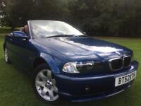 BMW 2003 58k MILES CONVERTIBLE 318CI FSH 2 KEYS 11 MONTHS MOT RARE!!