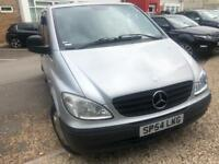 MERCEDES BENZ VITO 111CDI LONG 5 SEATER CREW VAN 2005 LOW MILES 138K WITH FULL SERVICE HISTROY