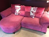 "Beautiful Pink ""Lelani"" DFS - 4 Seater Corner Sofa - RRP £1200 - 12 Months Old - Good Condition"