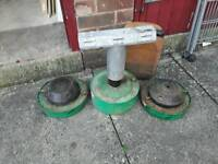3 old Parasene paraffin shed and greenhouse heaters with paraffin