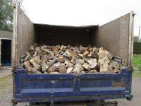 Truckload of seasoned softwood logs