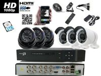 8 Channel DVR 1080P With 6 AHD CCTV Security Camera 2.4 M pixel System HDMI IR HD-TVI with 2TB HDD