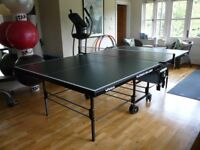 Immaculate full-size folding indoor table tennis table - cost c.£400