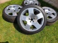 "17"" GENUINE AUDI TT COMPS CEMPETITION ALLOY WHEELS 5x100 VW GOLF POLO AUDI A3 S3"